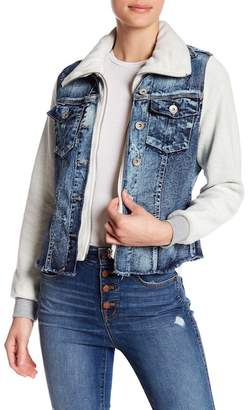 Live A Little Terry Trim Denim Jacket