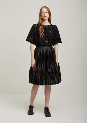 Junya Watanabe Polyester Film Pleated Skirt