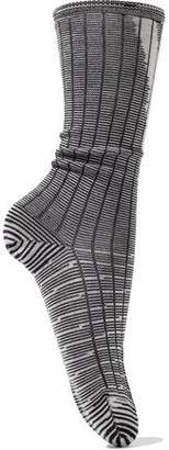 M Missoni Striped Ribbed Wool-Blend Socks
