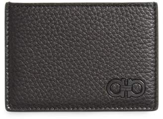 Salvatore Ferragamo Calfskin Leather Card Case