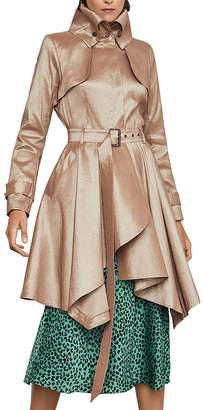 BCBGMAXAZRIA Fit-and-Flare Trench Coat