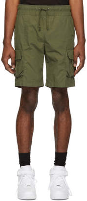 John Elliott Green Military Cargo Shorts