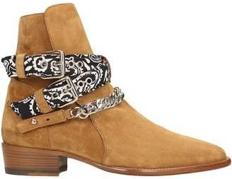 Amiri Brown Bandana Buckle Boots