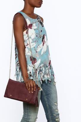 Entro Blue Floral Sleeveless Top