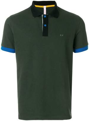 Sun 68 contrast sleeve polo shirt