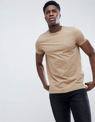 BEIGE Asos Design ASOS DESIGN crew neck t-shirt in