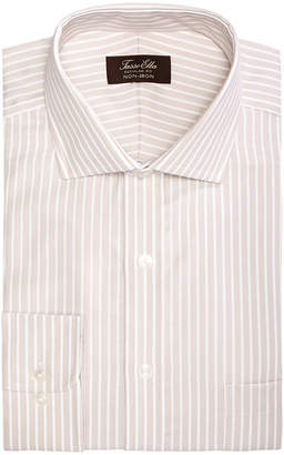 Tasso Elba Men's Classic/Regular Fit Non-Iron Twill Bar Stripe Dress Shirt