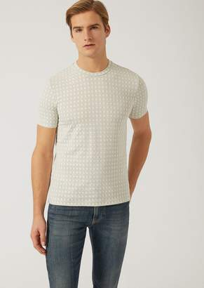 Emporio Armani Checked Jersey T-Shirt