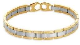 Lord & Taylor 14K Yellow Gold Watch Band Link Bracelet