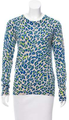 Equipment Leopard Printed Cashmere Sweater