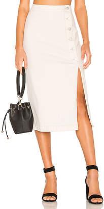 Free People Jasmine Buttoned Midi Skirt.