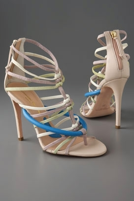 Alessandro Dell'Acqua Strappy Zip Back High Heel Sandal