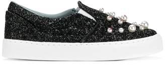 Chiara Ferragni embellished slip-on sneakers