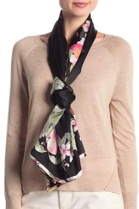Ted Baker Peach Blossom Long Silk Scarf