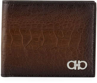 Salvatore Ferragamo Men's Ostrich Bi-Fold Wallet