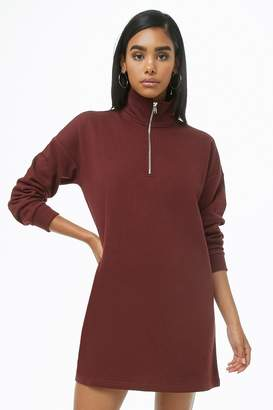 Forever 21 Funnel Neck Sweatshirt Dress