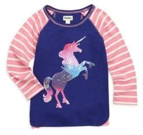 Hatley Little Girl's & Girl's Playful Unicorn Long-Sleeve Top