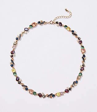LOFT Mixed Crystal Stone Necklace