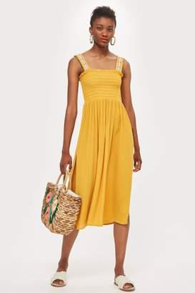 Topshop Shirred Trim Dress
