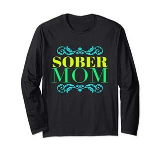 Sober Mom AA NA Sobriety Fall Tee