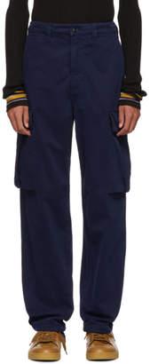 Acne Studios Navy Loose Cargo Pants
