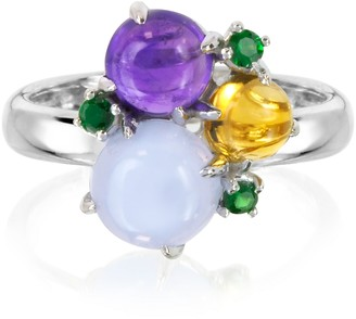 Mia & Beverly Gemstones 18K White Gold Ring