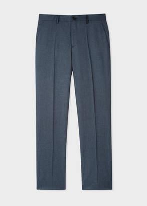 Paul Smith Men's Mid-Fit Navy Wool Pants