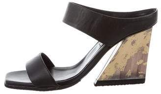 Eugenia Kim Leather Slide Sandals