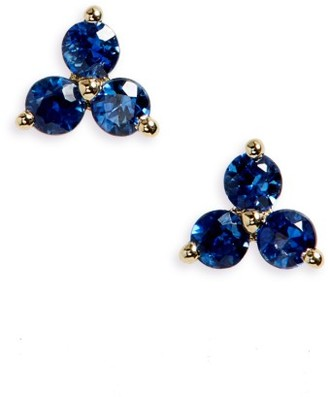 Women's Ef Collection Trio Precious Stone Stud Earrings $450 thestylecure.com