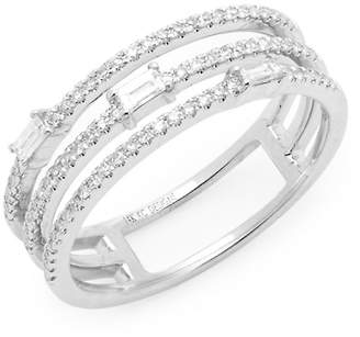 KC Designs Women's 14K White Gold and Diamond Cut-Out Ring