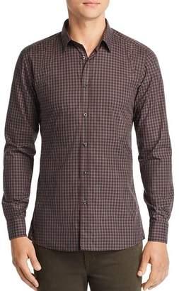 HUGO Elisha Grid Extra Slim Fit Button-Down Shirt