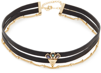 Jules Smith Owen Leather Choker Necklace $85 thestylecure.com