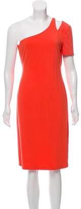 Halston One-Shoulder Midi Dress w/ Tags
