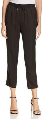 Alexander Wang Striped Silk Jacquard Jogger Pants