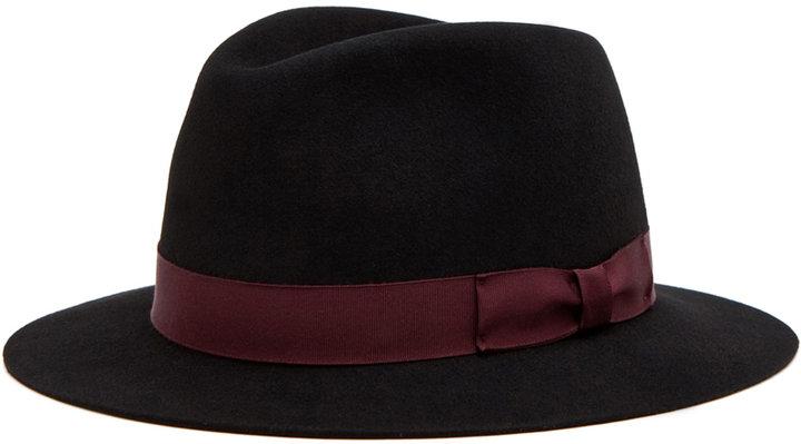 rag & bone Hampshire Hat in Black