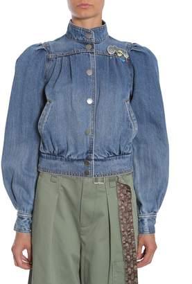 Marc Jacobs Short Denim Bomber Jacket