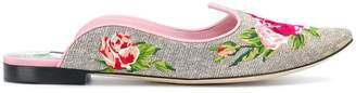 Dolce & Gabbana floral mules