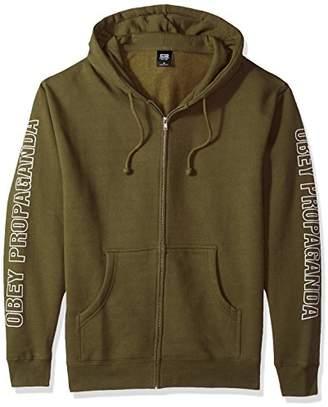 Obey Men's Rough Draft Zip Hooded Fleece Sweatshirt