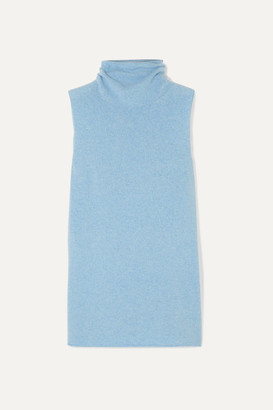 The Row Leona Wool And Cashmere-blend Turtleneck Sweater - Blue