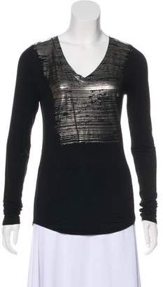 Kit and Ace Metallic V-Neck Top