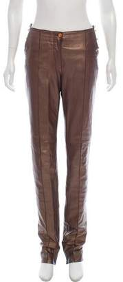 Gianfranco Ferre High-Rise Straight-Leg Pants