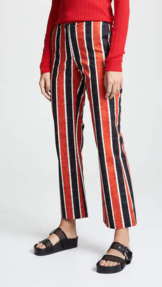 Stella Jean Striped Crop Trousers