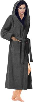 Skylinewears Women's 100% Terry Cotton Bathrobe Toweling Hooded Robe XL