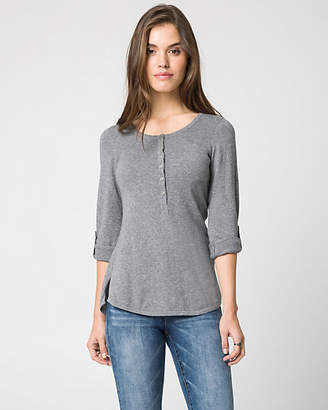Le Château Cotton Henley Neck Sweater