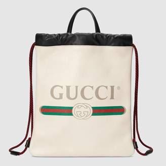 Gucci (グッチ) - GUCCI プリント スモール ドローストリング バックパック