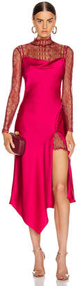 Jonathan Simkhai Lace Overlay Dress in Siren Red | FWRD