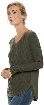 Sonoma Goods For Life Women's SONOMA Goods for Life Geometric Twist Cable-Knit Sweater