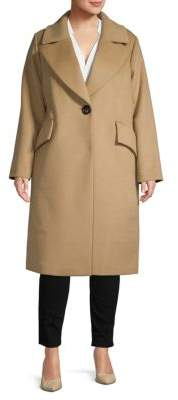 Rachel Roy Plus Classic Long Coat