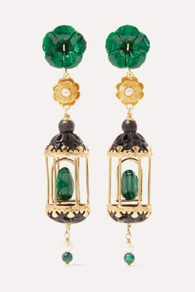 Of Rare Origin - Aviary Gold Vermeil Multi-stone Earrings