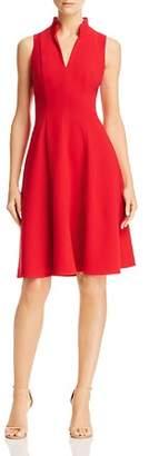 Black Halo Antoinette Ruffled-Collar Dress